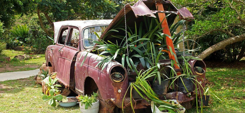 decoracion jardin reciclado